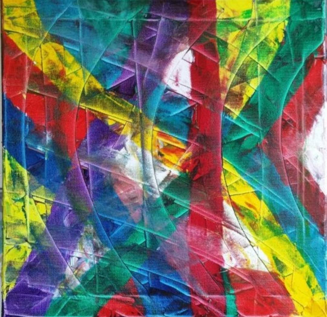 This abstract oil painting is called lockdown and is for sale €200 + PP