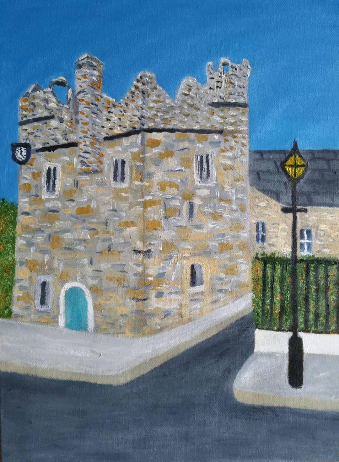 Oil Painting Dalkey Castle by local artist