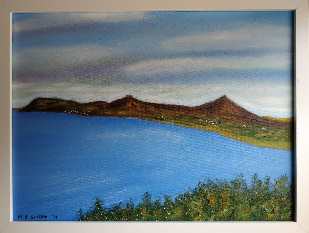 This framed oil painting of Killieny bay looking south is 30X40 CM and is on sale for €160 + PP