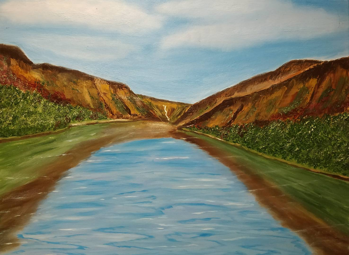 Oil Painting of Glendalough by local artist
