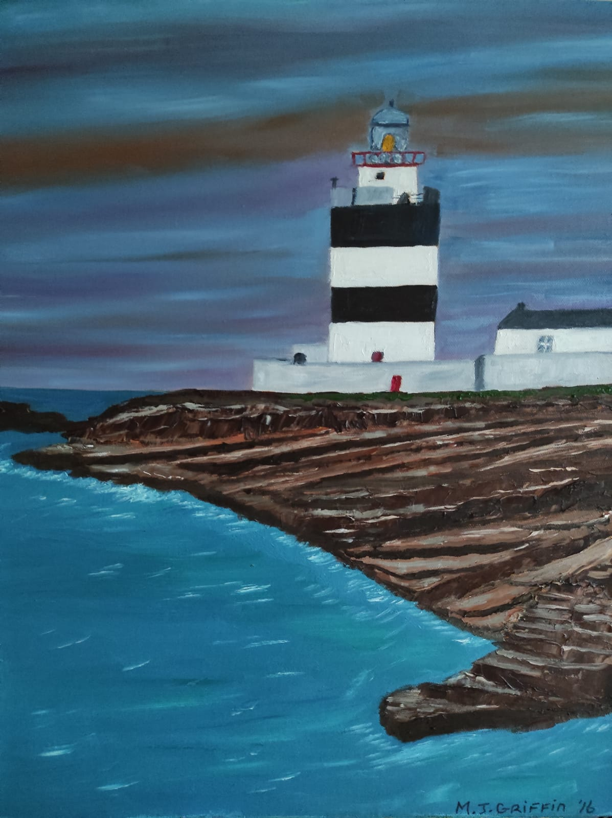 Oil Painting Hook Head Lighthouse Ireland for sale by local artist
