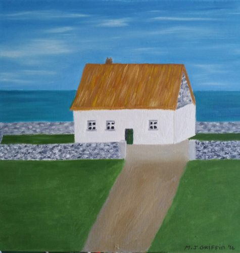 Oil Painting of Ireland Irish Cottage