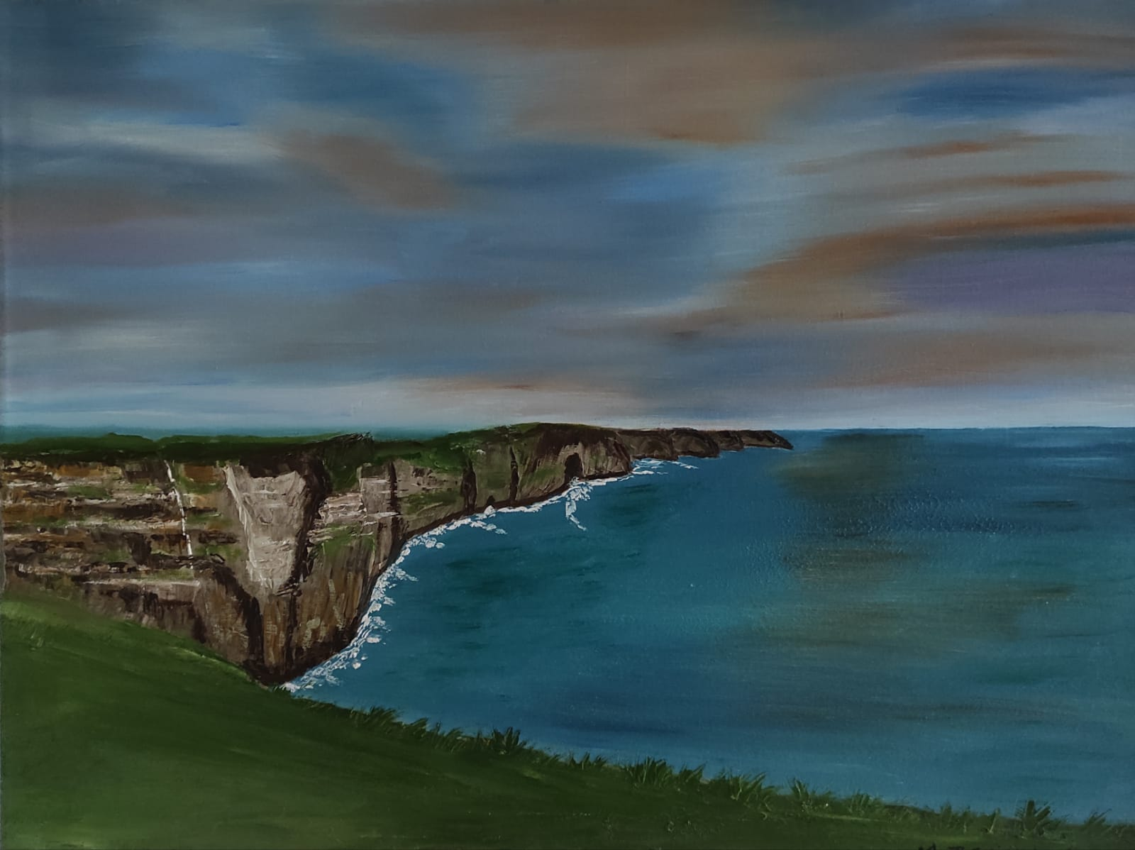 Oil Painting Cliffs of Moher Clare Ireland for sale by Irish artist