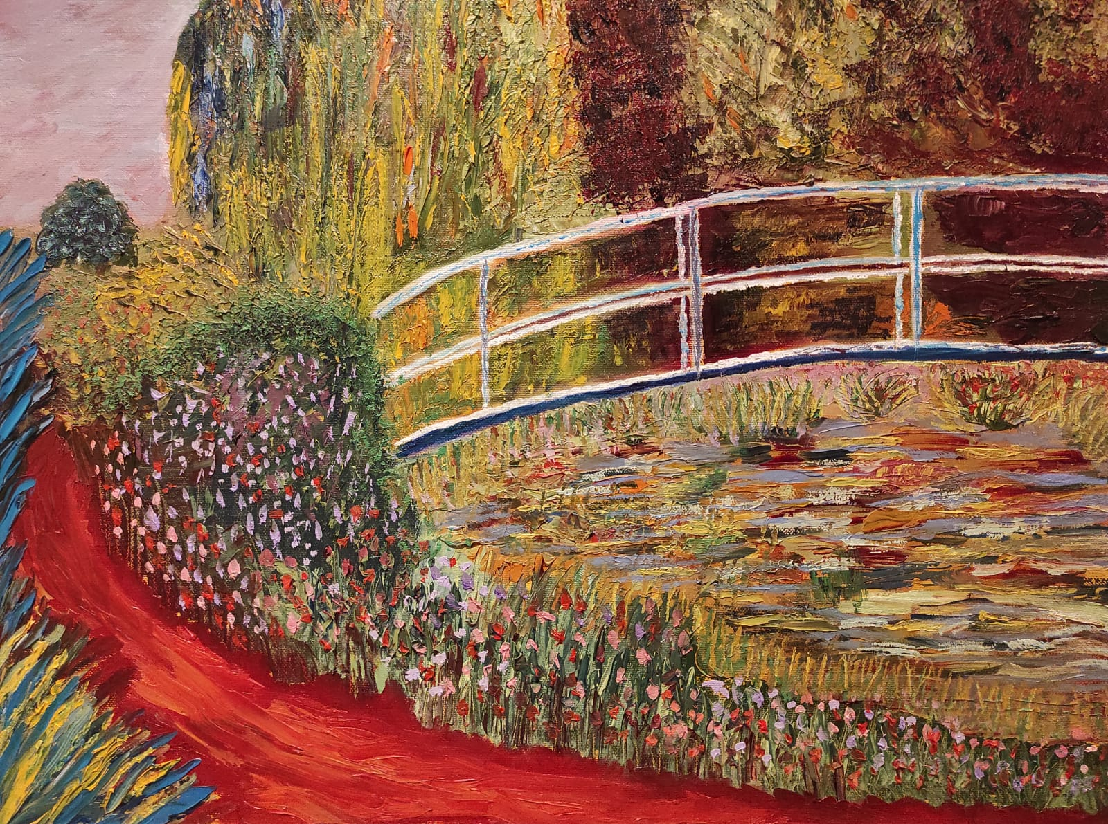 Post Monet Oil Painting for sale by Irish artist