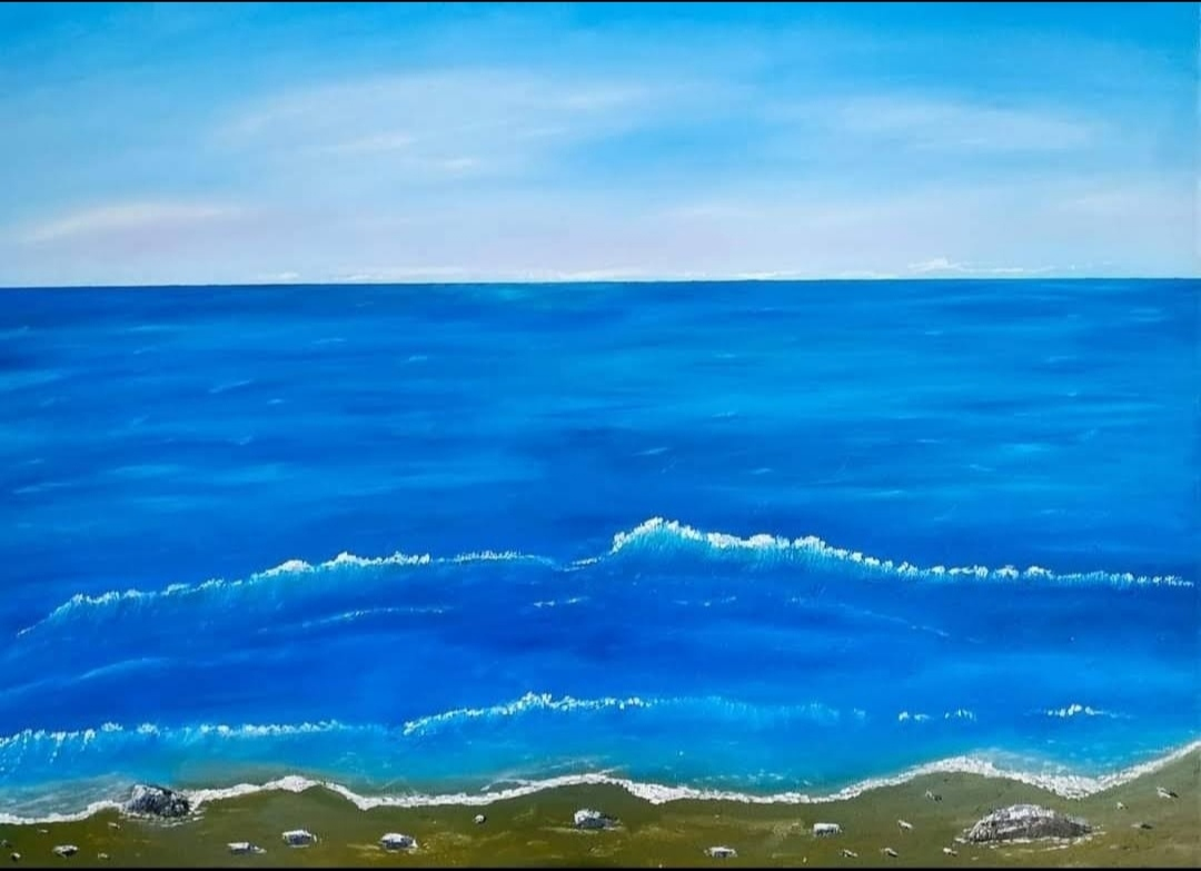 Oil Painting of seascape for sale by Irish artist