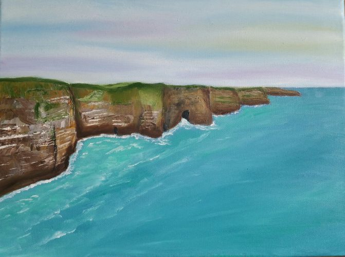 Oil Painting of Ireland Cliffs of Moher