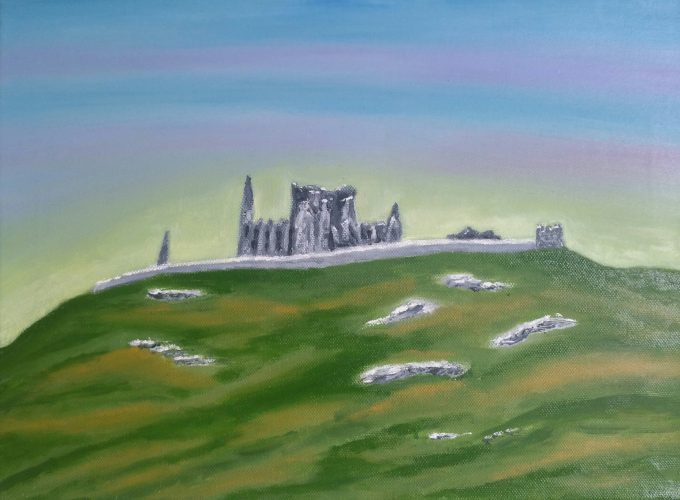 Oil painting of Ireland Rock of Cashel